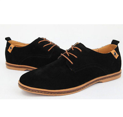 2018 Fashion European style leather Shoes Men's oxfords Suede  Casual Shoes