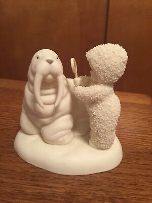 Dept. 56 Snowbabies May All Your Wrinkles Be Laughlines with Walrus Figurine
