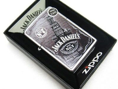 Zippo Full Size Satin Chrome Jack Daniel's Windproof Lighter 29285