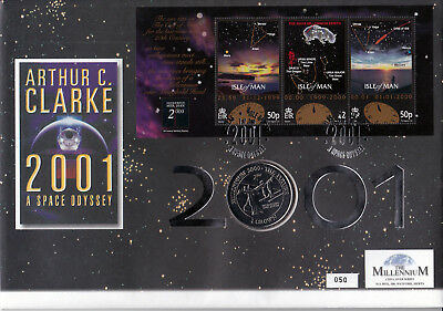 """2001 Isle of Man """"Space Odyssey"""" Coin Cover B"""
