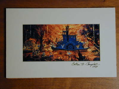 Disneyland Splash Mountain Concept Art Matted Print Signed By Collin B Campbell
