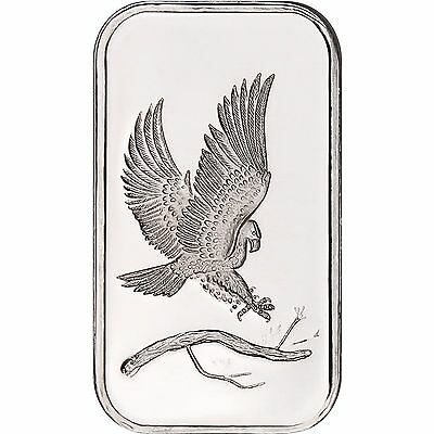 Trademark Bald Eagle 1oz .999 Fine Silver Bar by SilverTowne Sealed