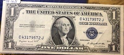 1935-G Silver Certificate $1 ~ Great Condition ~ ULTRA LOW FIXED PRICE!!**XF5