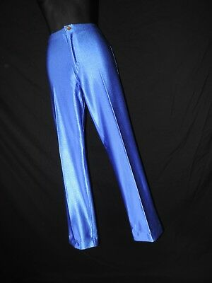 Vintage Frederick's of Hollywood Blue Spandex Pants High Waist Disco Jeans M