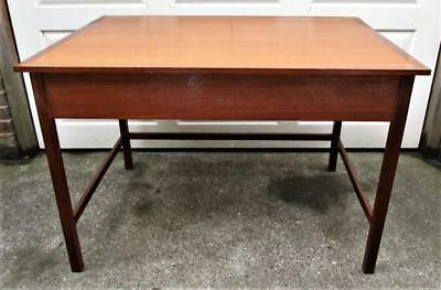 Vintage Retro Mid Century Teak Desk Display Table with Side Compartment