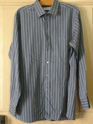 11f5a7a2367 Chemise CHRISTIAN DIOR Grise Rayures Taille 17 43-5 TBE