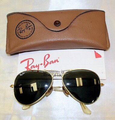 Vintage B&L Ray-Ban Aviator Sunglasses 58 14 in Case with Papers USA