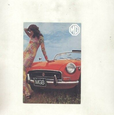 1971 MG MGB ORIGINAL Postcard wz1156