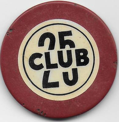 Crest & Seal Casino Or Poker Chip From CLUB 25-Butte, Montana-CG071424-Cl. 30's