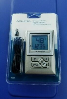 AcuRite My Backyard Weather Thermometer With Wired Temperature Sensor   New