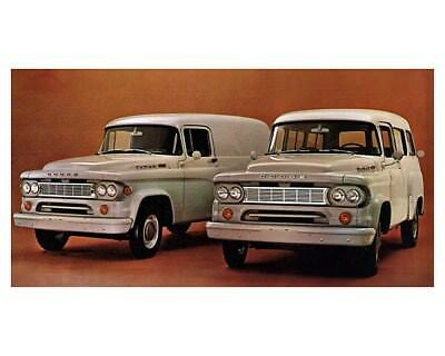 1966 Dodge D100 Town Panel & Wagon Truck Factory Photo ca8958