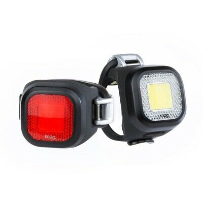 Knog Blinder Mini Chippy Twinpack Bike Light (Front and Rear Bicycle Lights Set)