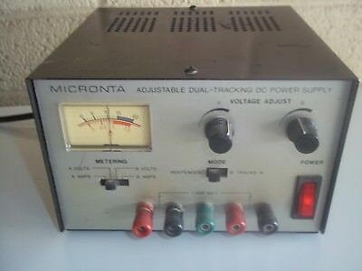 MICRONTA 22-121 Dual DC Variable Power Supply Adjustable Tracking 0-15VDC 1 Amp
