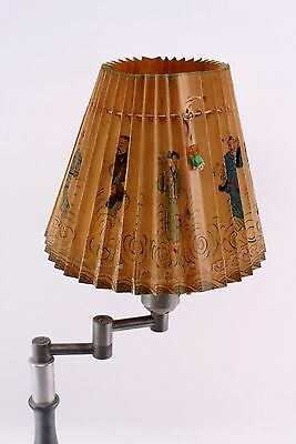 Vintage Hand Painted Japanese Folding Lamp Shade / Cover - Exquisite Detail
