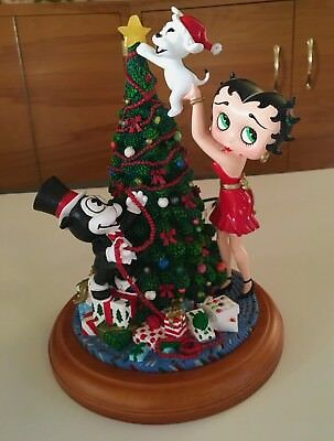 "Betty Boop Light Up Christmas Tree Danbury Mint 9"" Collectible"