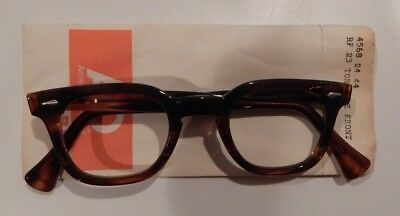 Vintage Authentic American Optical Stadium Tortoise 44/24 Eyeglass Frame NOS