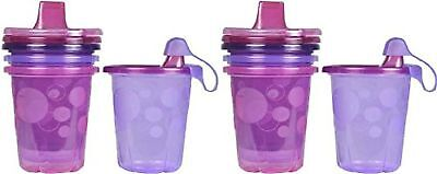 The First Years Take & Toss Spill-Proof 8 Pack Sippy Cups - 10 Ounce - Pi... New