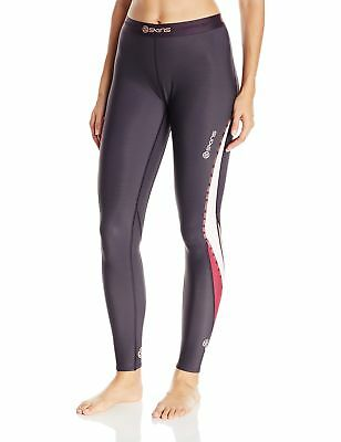 SKINS Women's Dnamic Thermal Compression Long Tights Dove Grey Large New