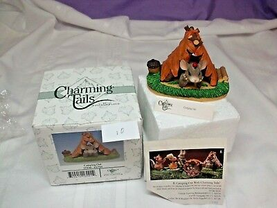 "CHARMING TAIL- Fitz and Floyd  Collectors  NIB- ""Camping Out"" 83/703"