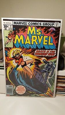 Ms. Marvel #3      (Nm-)  ~1St App. Of Salia Petrie~  Movie Coming.  1977.   Key
