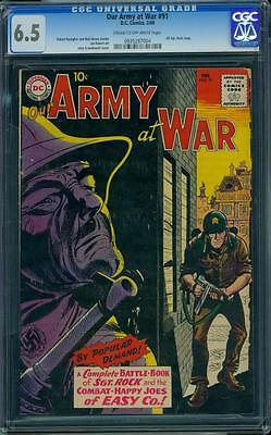 Our Army At War 91 CGC 6.5 Silver Age Key DC Comic 1st All Sgt. Rock Issue L@@K