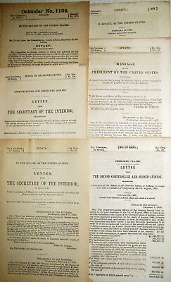 19Th Century Indian Tribe Cherokee Nations 1839-1892 Destitute Indian Territory