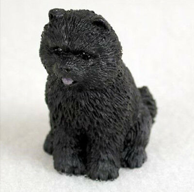 CHOW (BLACK)  TINY ONES DOG Figurine Statue Resin Pet Lovers Gift