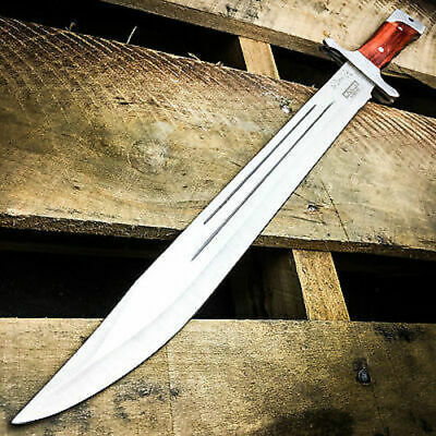 "18"" SURVIVAL HUNTING Tactical Full Tang FIXED BLADE MACHETE Knife Wood Sword"