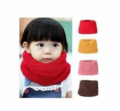 Unisex Baby Kids Toddler Boys Girls Soft Thick Knitted Scarf Warmer Winter Knit