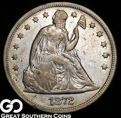 1872 Seated Liberty Dollar, Always In Demand Silver Dollar Series, ** Free S/H!