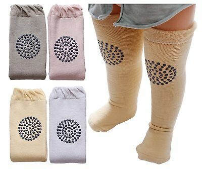Dicry Toddler Baby Non Slip Knee Pads Socks Thick Warm Lace Knee High Stockings