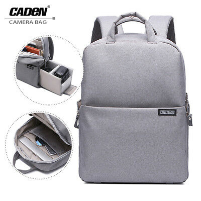 Caden Waterproof Camera Backpack Bag Rucksack Case For Nikon Sony Canon DSLR SLR