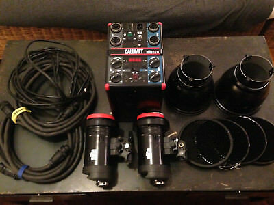 Bowens / Elite Portable Photographic Strobe Kit Power Pack And Heads 2400 W/s