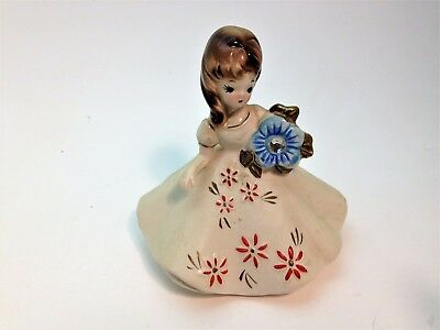 Vintage Josef originals Month Girl with December Birth Stone Made in Japan