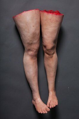 severed legs female pair realistic lifecast body halloween haunted house prop