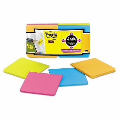"""Post-it Super Sticky Full Adhesive Notes Assorted Bright Colors 3"""" x 3"""" - 12 pk."""