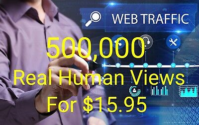 500,000 Traffic For Your Website 500000 With Live Stats