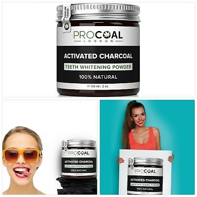 PROCOAL Activated Charcoal Teeth Whitening Powder 60ml Premium Grade
