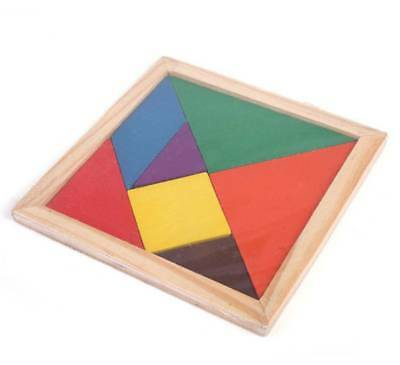 Wooden IQ Game Jigsaw Intelligent Tangram Brain Teaser Puzzle Baby Kid Toy CoolT