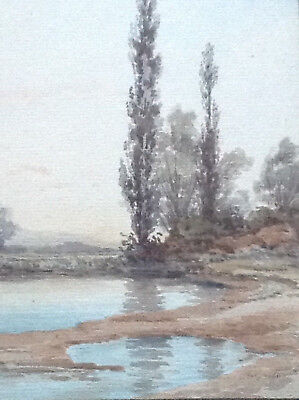 Paire d'aquarelles de Paul JAUBERT (1869-1927), bords de rivière