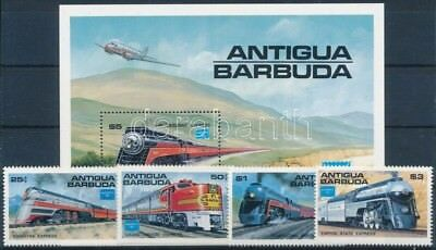 Antigua & Barbuda stamp Train set + block MNH 1986 Mi 944-947 + Mi 110 WS248762