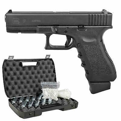 Glock 17 Deluxe Softair-Co2-Pistole Kaliber 6 mm BB Blowback > 0,5 Joule  (P18)