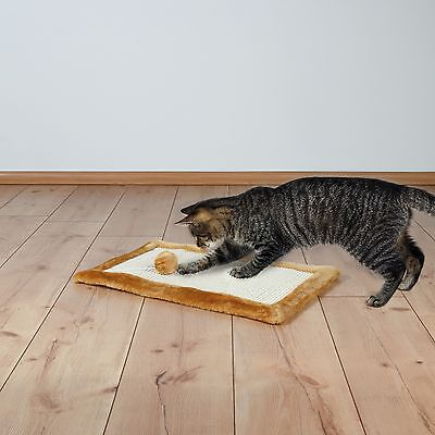 4325 Trixie Cat Scratch Mat Scratching For Cats & Kittens - Natural / Brown