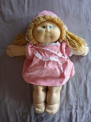 Cabbage Patch Kids Doll Blonde Hair Blue Eyes 1985