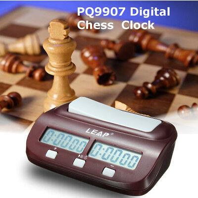 LEAP PQ9907 Digital Chess Clock Count Up Down Timer Two LED for Game Competition