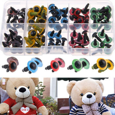 100pcs Plastic Safety Black Color Eyes Teddy Bear Doll Animal Make DIY Soft Toy