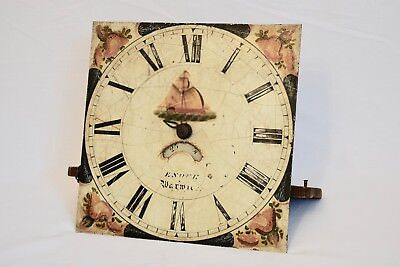 Antique 30 Hour Longcase Weight Driven Clock Movement And Dial