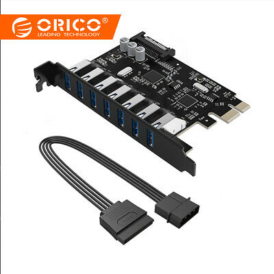 ORICO Super 7 Ports PCI-E to USB 3.0 Expansion Card Adapter for Windows XP Linux