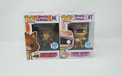 Funko POP - Fruit Brute & Yummy Mummy Bundle - Monster Cereals - Exclusive - New