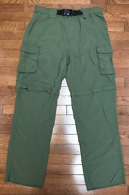 Women's Boy Scout Official Green Uniform Cargo Switchback Shorts/Pants sz L NWOT